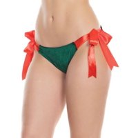 Coquette Womens Unwrap Me Velvet Gift Bikini Style-3896