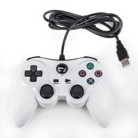 TTX Tech Analog Wired USB Controller for PlayStation 3/PC, White