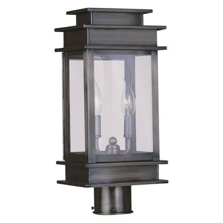 Livex Lighting Princeton 2 Light Outdoor Post Lantern 2 Light Outdoor Post