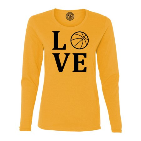 Love Basketball Sports Jersey Womens Long Sleeve T (Basketball Womens Long Sleeve)