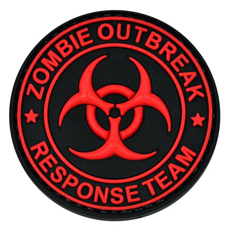 LIVABIT PVC Rubber 3D Morale Patch MP-18 Tactical Airsoft Paintball Black Red Zombie Outbreak Response Team](Halloween Zombie Paintball Washington)