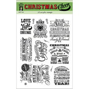 """Hot Off The Press Acrylic Stamps 6""""X8"""" Sheet-Christmas Cheer"""