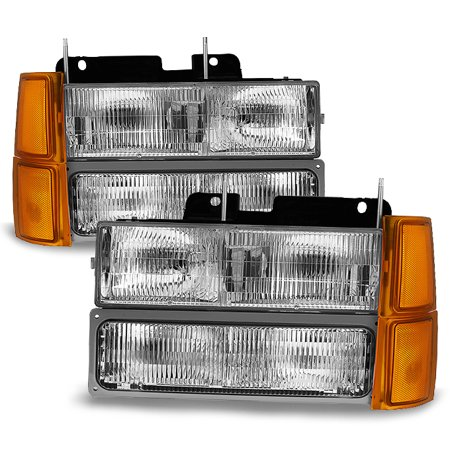 Fit 1994-1999 C/K 1500 2500 3500 Suburban 1995-00 Tahoe Headlights Corner (Tahoe Two Light Chain)