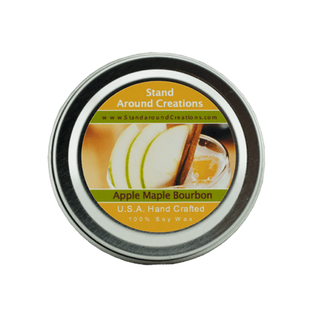 - APPLE & MAPLE BOURBON TIN 2-OZ. ALL NATURAL SOY CANDLE