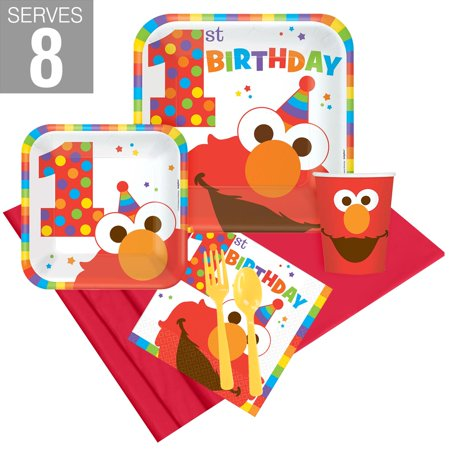 Elmo Turns One Party Pack For - Elmo 1st Birthday Party