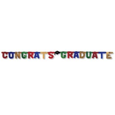Congrats Graduate Jointed Foil Letter Banner (1 ct)