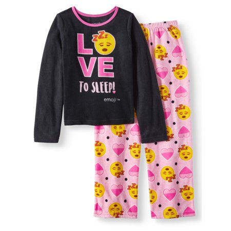Emoji 2 Piece Pajama Sleep Set (Big Girl & Little Girl) (Girls Sleepwear)
