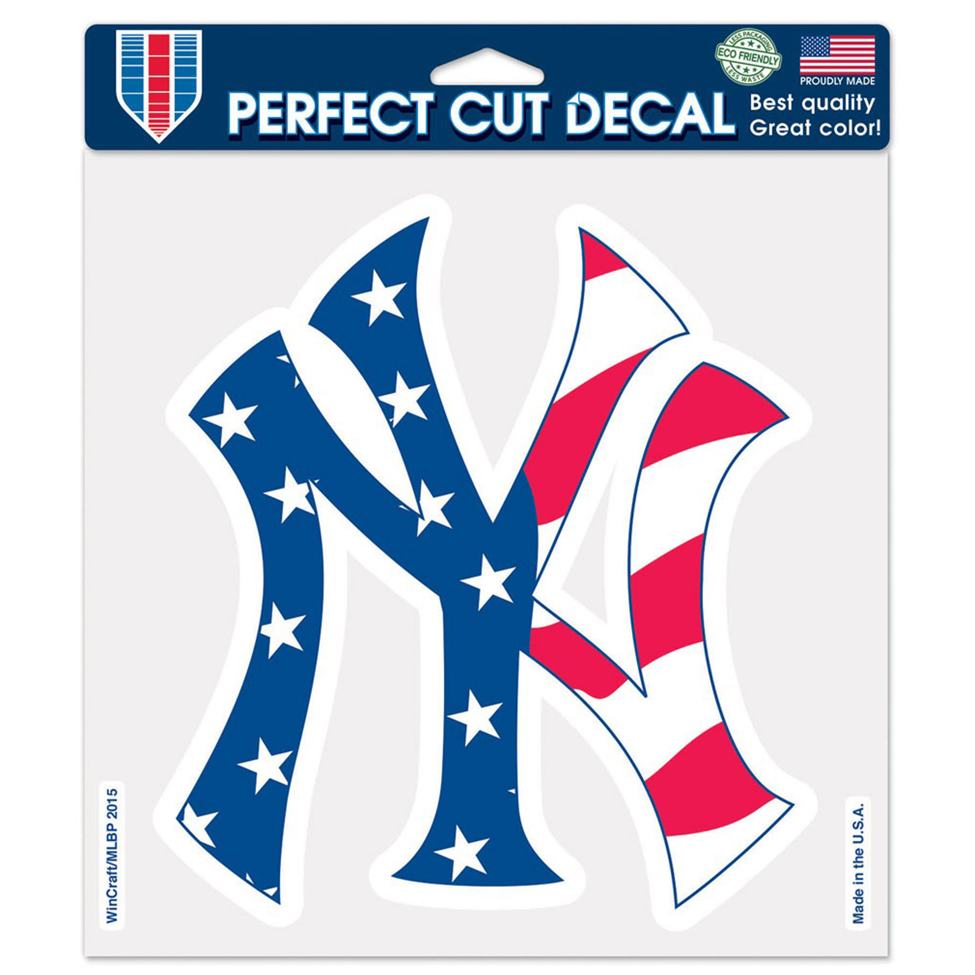 """New York Yankees WinCraft Patriotic 8"""" x 8"""" Color Decal - No Size"""