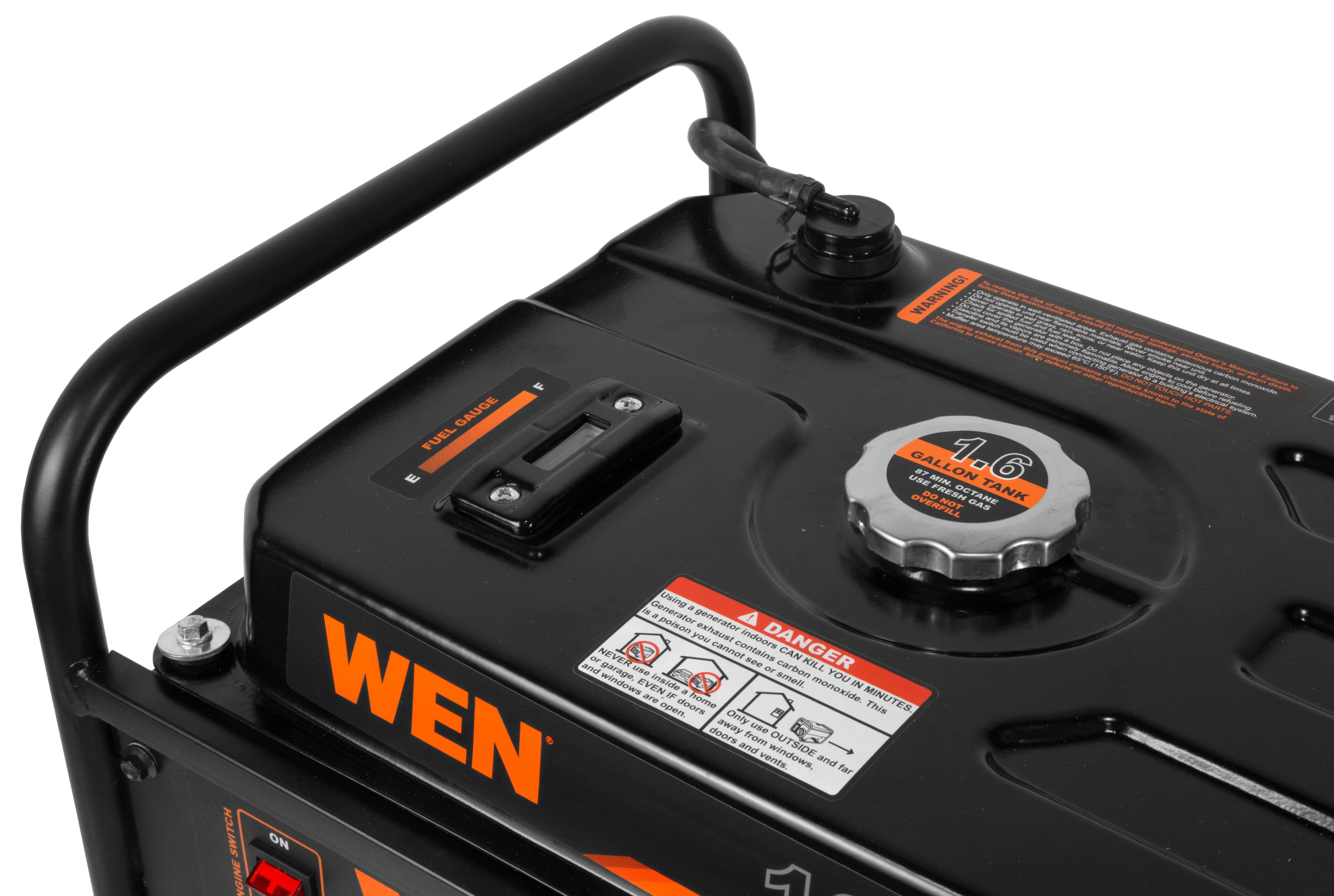 WEN 4-Stroke 98cc 1600-Watt Portable Generator, CARB Compliant
