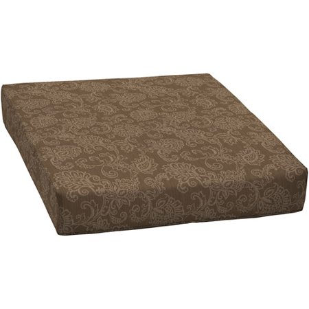 and gardens outdoor deep seat seat cushion tan jacquard