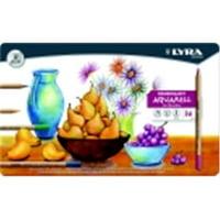 Lyra Rembrandt Aquarelle Non-Toxic Colored Pencil, Assorted Color, Pack 36