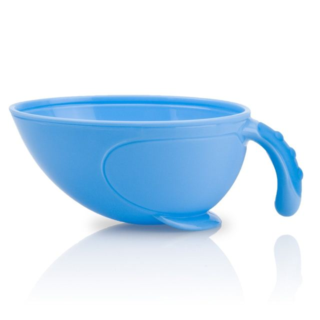 Nuby Non-Skid Comfort Grip Feeding Bowl With Lid Handle And Spoon by Nuby