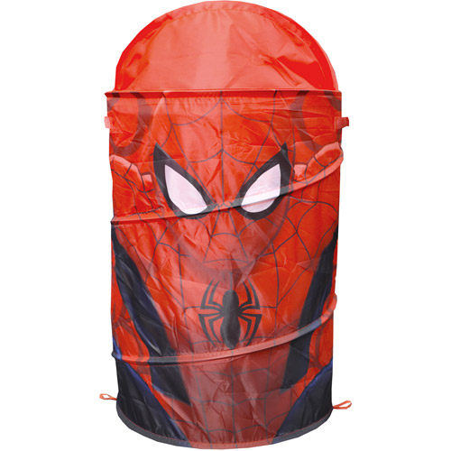 Marvel Spider-Man Pop-Up Hamper with Dome Lid, Red
