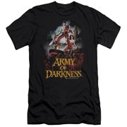 Mgm Army Of Darkness Bloody Poster Mens Slim Fit Shirt