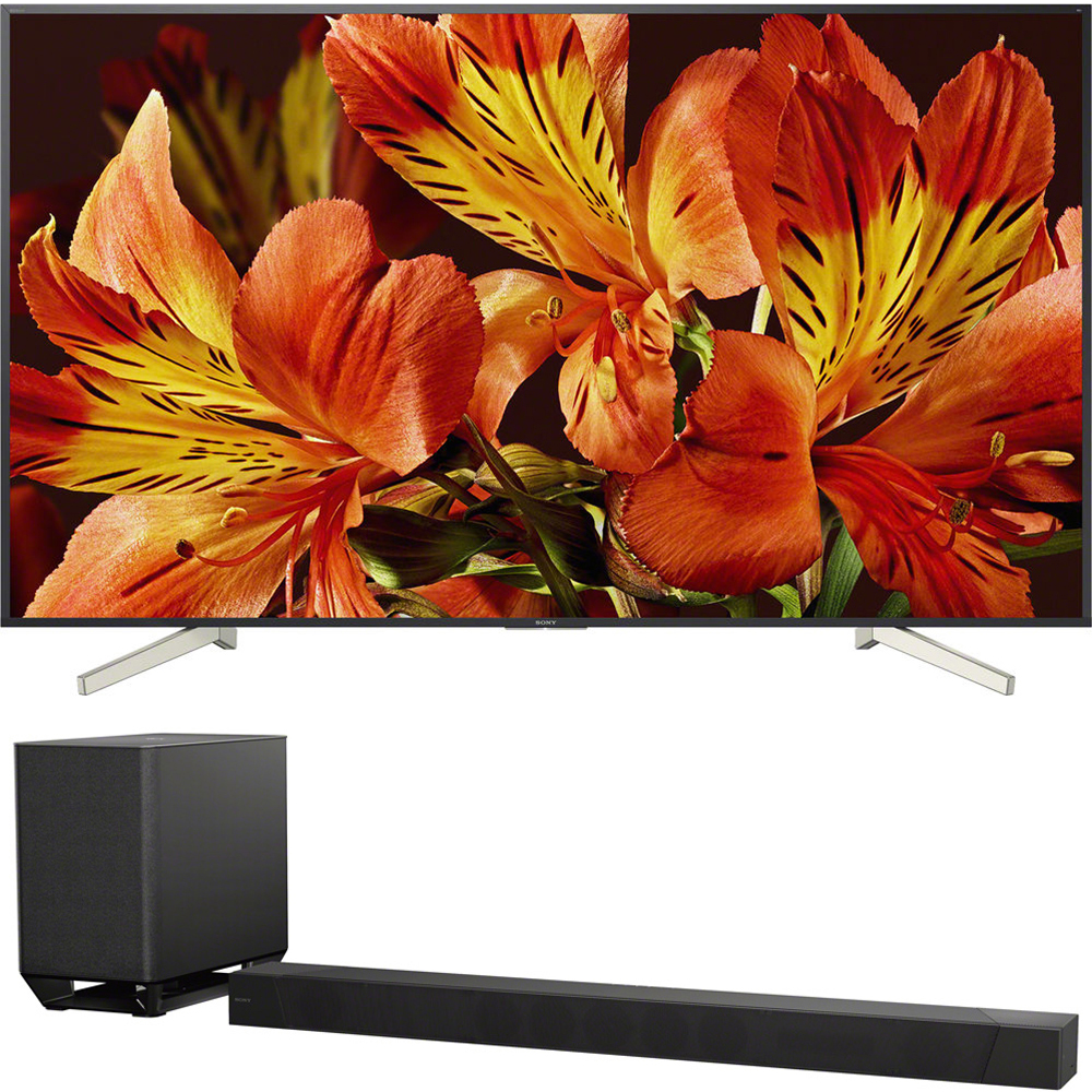 "Sony 85"" Class 4K Ultra HD (2160P) HDR Android Smart LED TV (XBR85X850F) with Sony 7.1.2ch 800W Dolby Atmos Sound Bar"