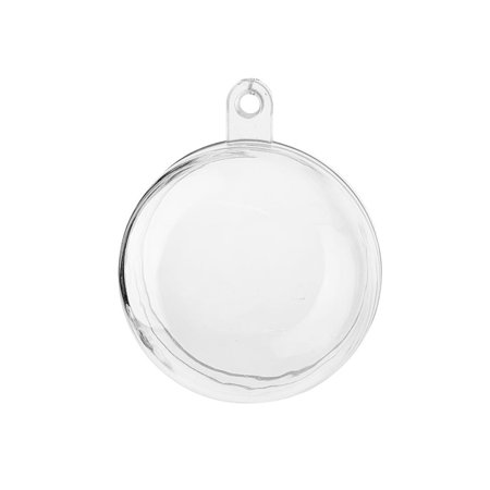 Fillable Plastic Clear Ball Ornament, 1-1/2-Inch, 12-Count - Clear Plastic Balls
