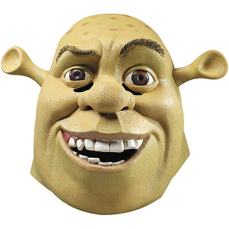 shrek deluxe adult halloween mask
