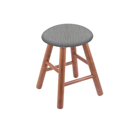 Pleasing Oak Round Cushion 18 Swivel Vanity Stool With Smooth Legs Creativecarmelina Interior Chair Design Creativecarmelinacom