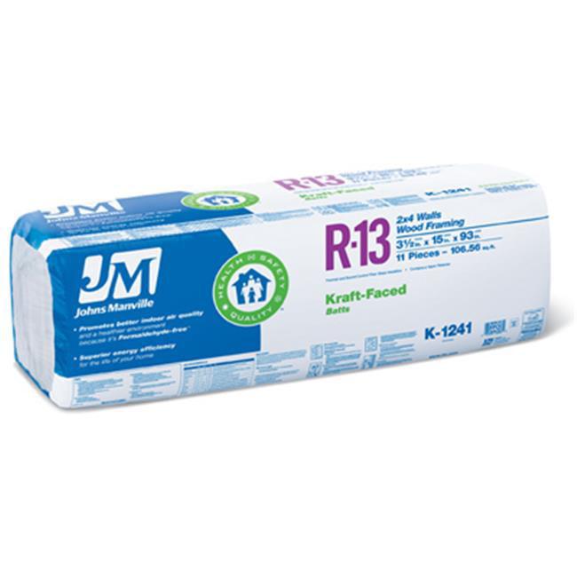 Johns Manville Intl 90005448 Kraft Faced Batt Insulation,...