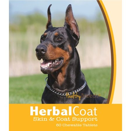 Healthy Breeds Doberman Pinscher Natural Skin-Coat Support Chewable Tablets 60 Count