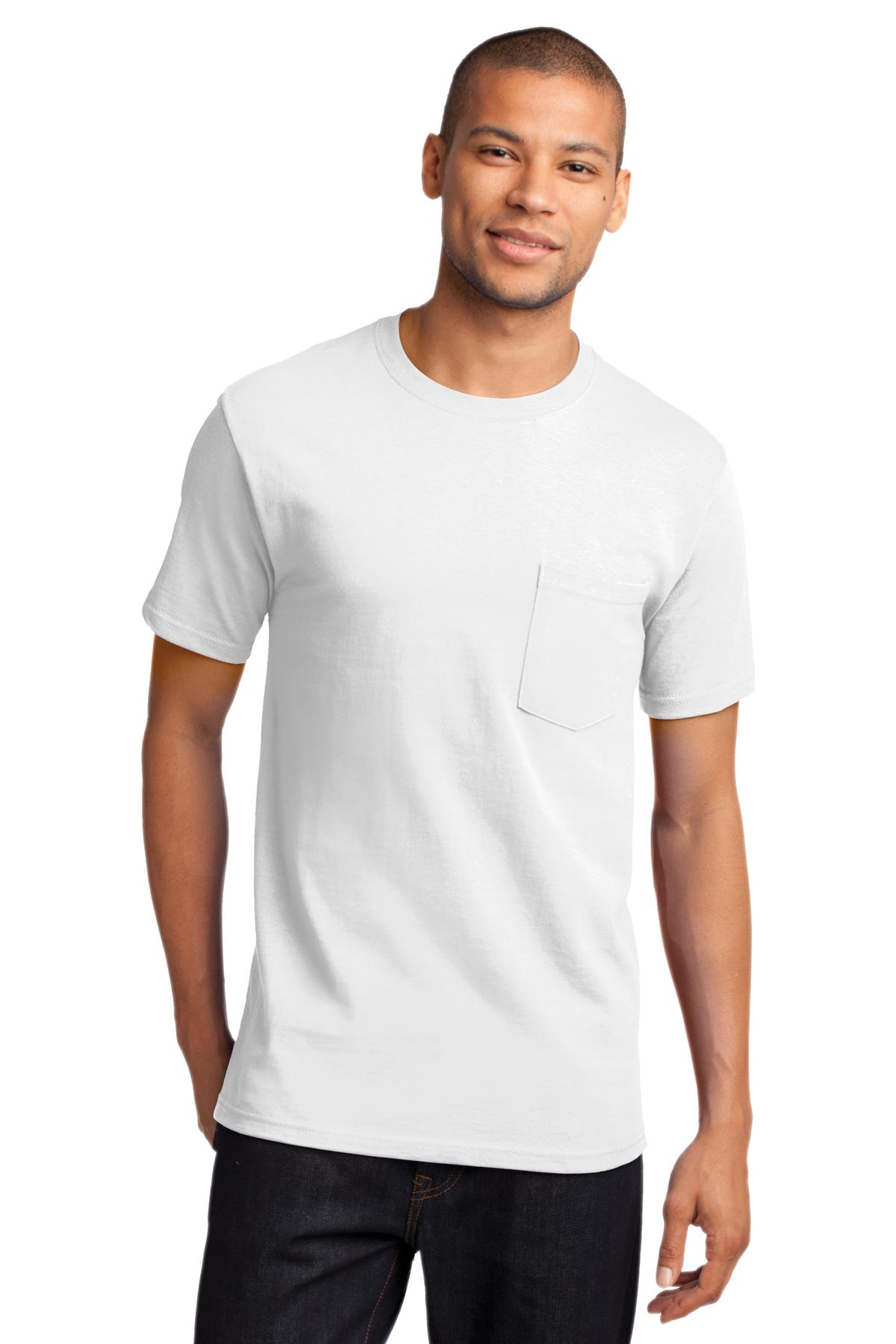 Port & Company PC61PT Tall T Shirt Mens Tall Essential T-Shirt with Pocket