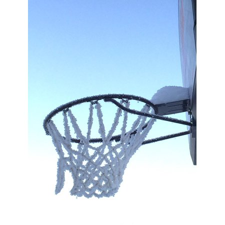 LAMINATED POSTER Basketball Hoop Frozen Winter Cold Hoop Basketball Poster Print 24 x 36 - Frozen Basket