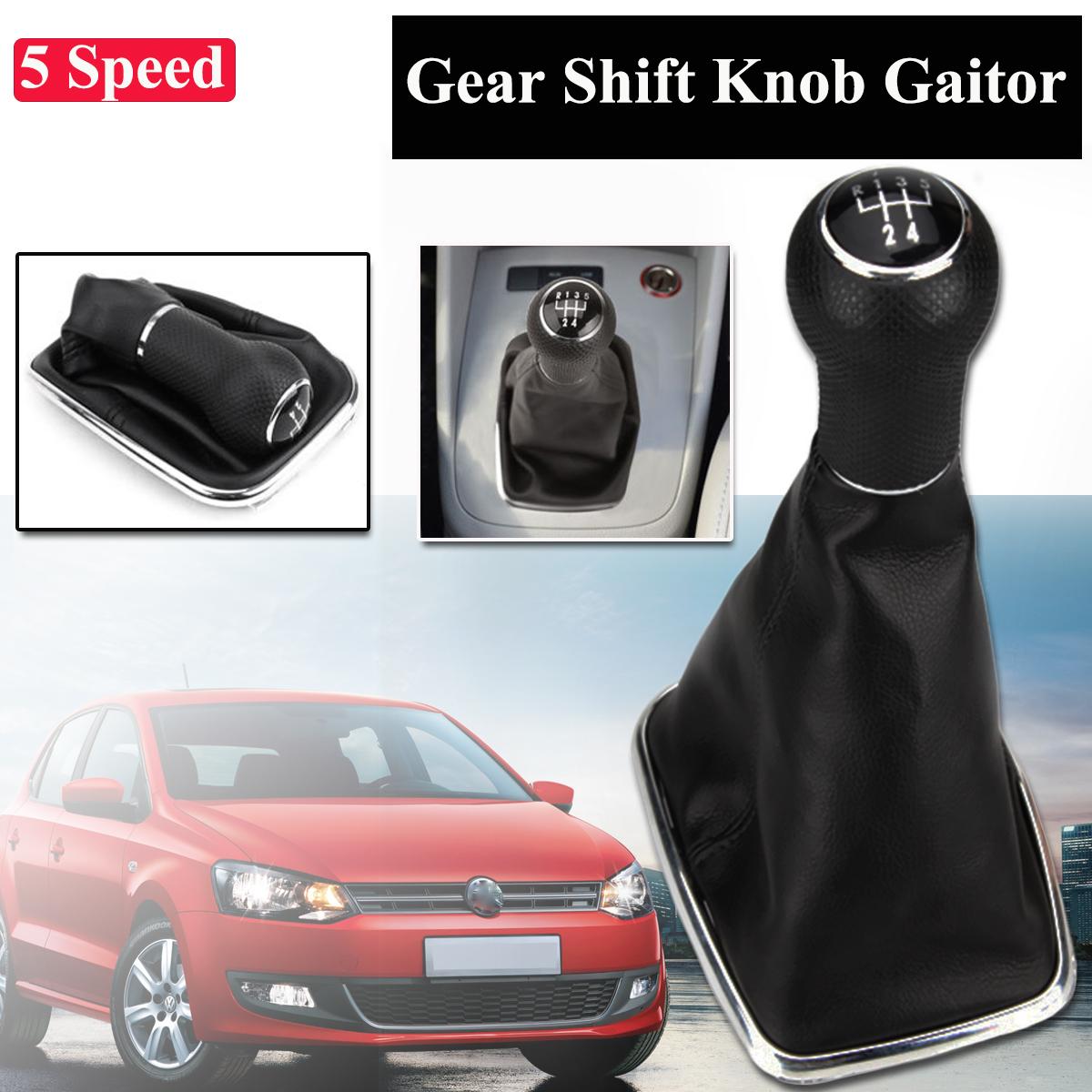 Madezz Car Gear Shift Knob Gaiter Boot T6 2003-2011 5 Speed Gear Shifter Knob Gearstick Gaiter Boot Kit For Transporter T5