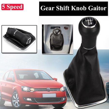 Leather 5 Speed Gear Shift Knob Gearstick Gaitor Gaiter Boot Cover Shifter Dustproof For 99-04 VW Mk4 Golf Jetta Bora Replacement
