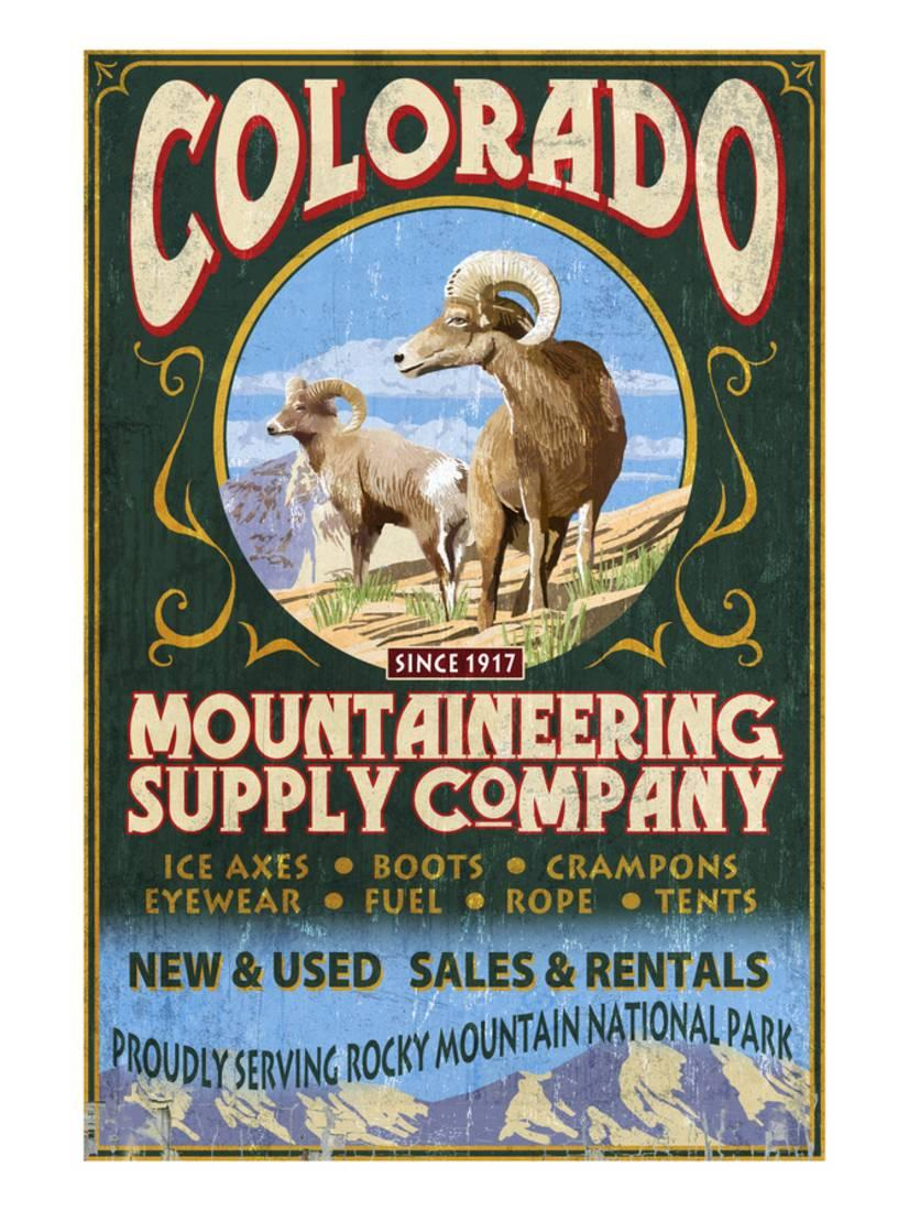 Mountaineering Supply Rocky Mountain National Park Art Print By Lantern Press by Art.com