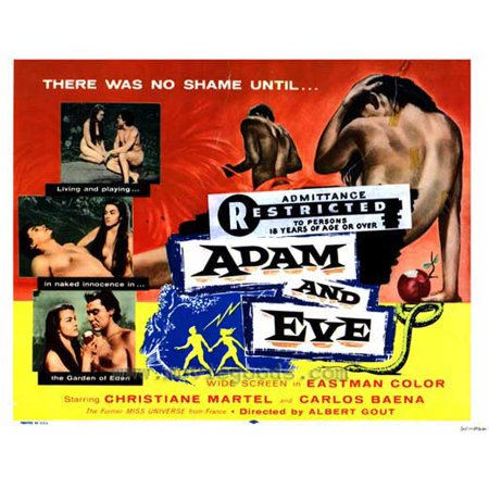 Adam and Eve POSTER Movie (27x40) (Adam And Eve Halloween Costume Couples Costume)