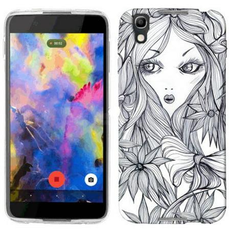 Nitro Girl (Mundaze Flower Girl Phone Case Cover for Alcatel IDOL 4 Nitro 4)