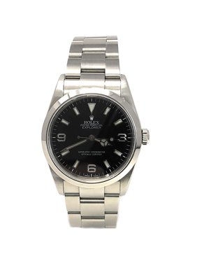 Rolex Explorer I 114270 Black Arabic dial and a Stainless Steel Smooth Bezel (Certified Pre-Owned)