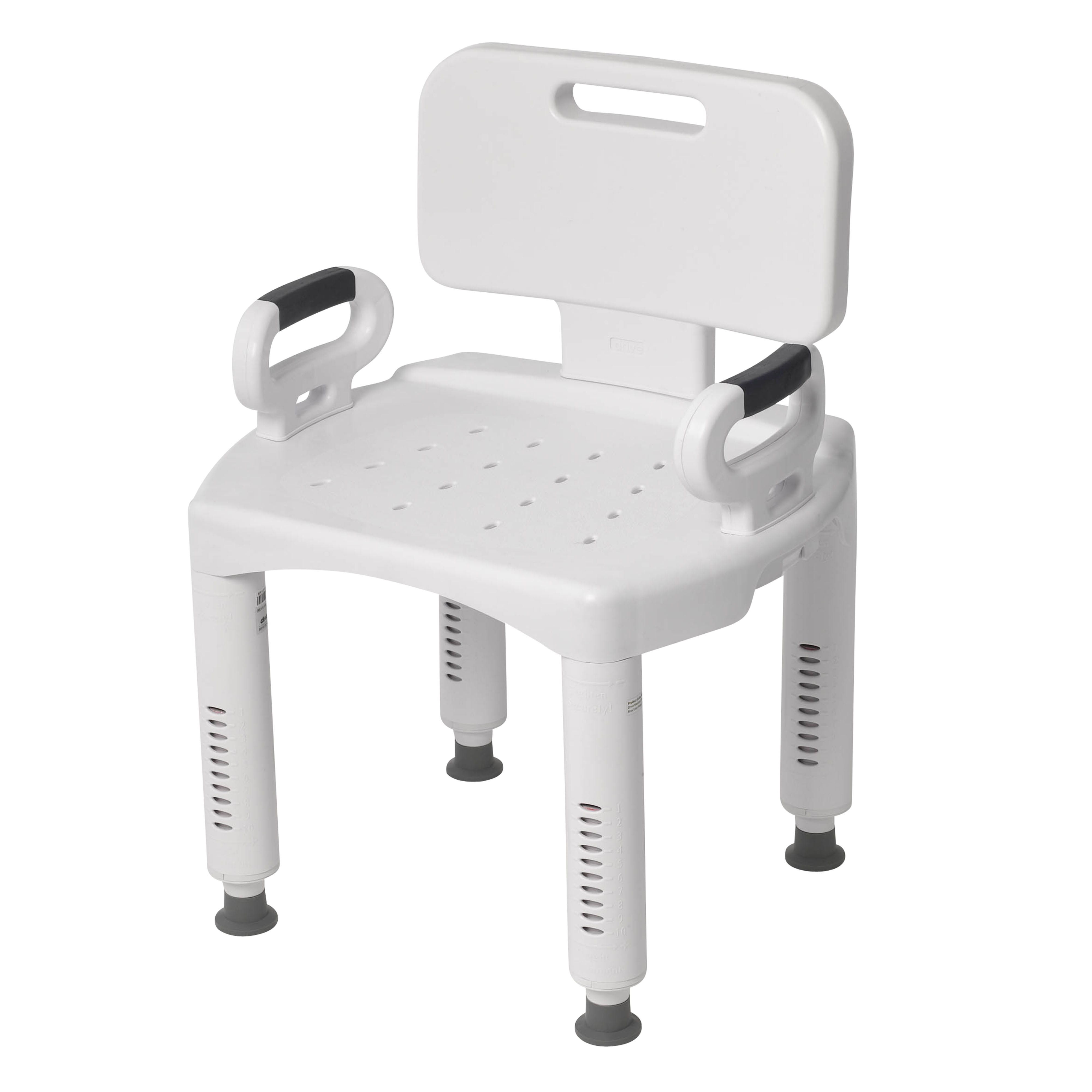 Drive Medical Premium Series Shower Chair with Back and Arms ...