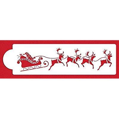 santa's sleigh and reindeer by designer stencils