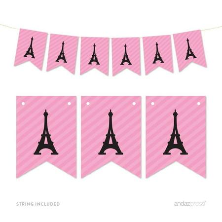 Pennant Party Banner Paris Eiffel Tower](Eiffel Tower Birthday Party)