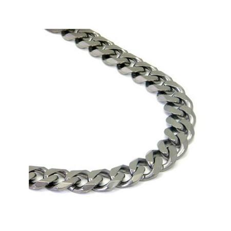 Italian cut Titanium 10MM Curb Necklace Chain 24