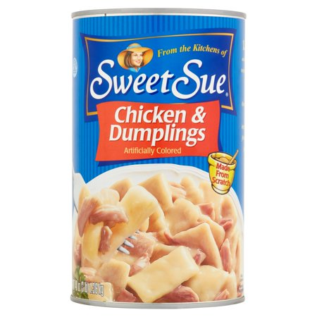 (2 Pack) SWEET SUE Chicken and Dumplings, High Protein Snacks, 48oz can