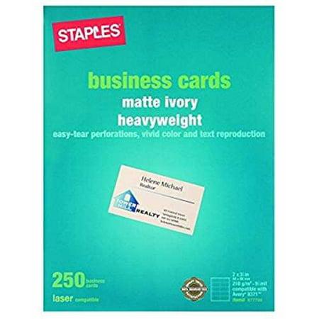 Staples Laser Business Cards Ivory 250pk Walmart