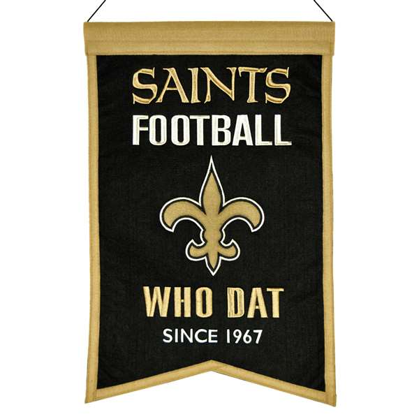 New Orleans Saints Wool Franchise Banner