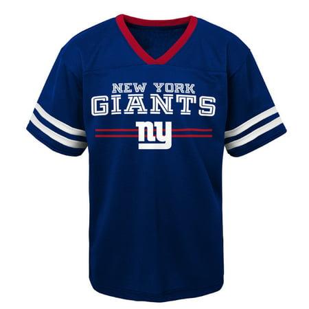 Youth Royal New York Giants Mesh V-Neck (New York Giants David Tyree)