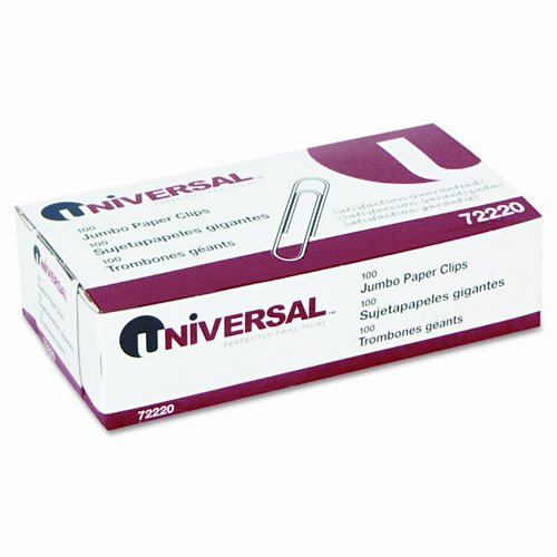 Universal Smooth Paper Clips, 100/Box