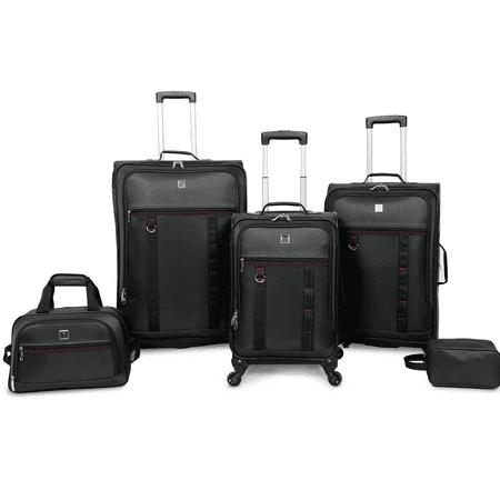 Protege 5 piece Spinner Luggage Set, Includes 28u0022 & 24u0022 Check Bags, 20u0022 Carry-on