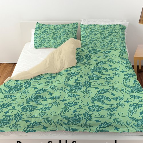 Manual Woodworkers & Weavers Sultry Blues Duvet Cover