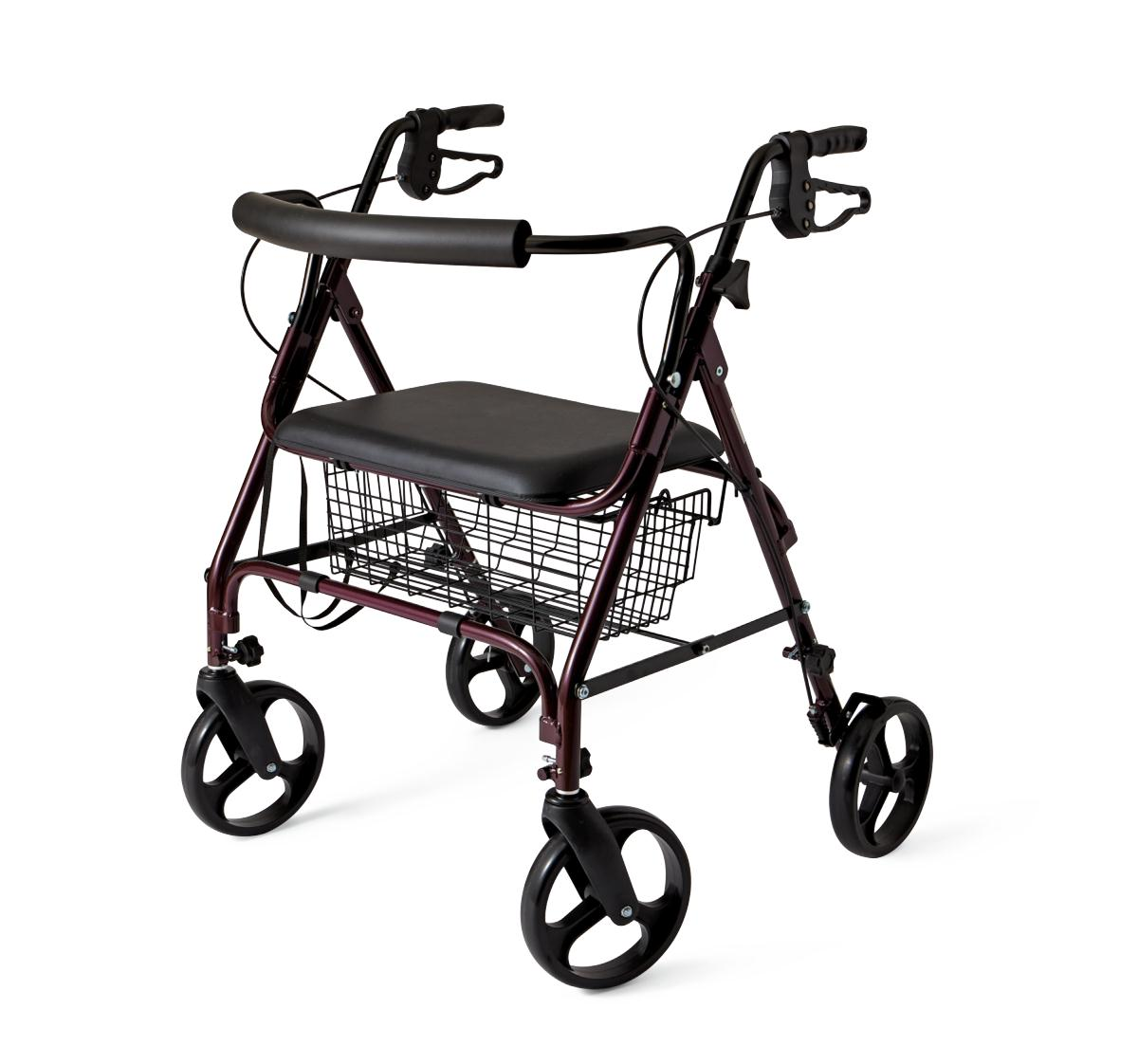 Medline Heavy-Duty, Extra-Wide Rollator Walker