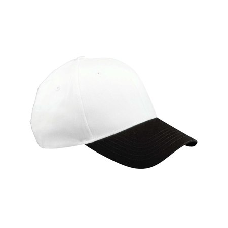 Big Accessories Ball Cap BX002 6-Panel Brushed Twill Structured (White Structured Cap)