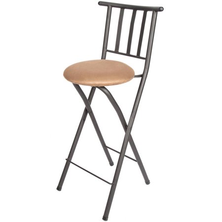 Groovy Mainstays 30 Slat Back Folding Stool Hammered Bronze Finish Uwap Interior Chair Design Uwaporg