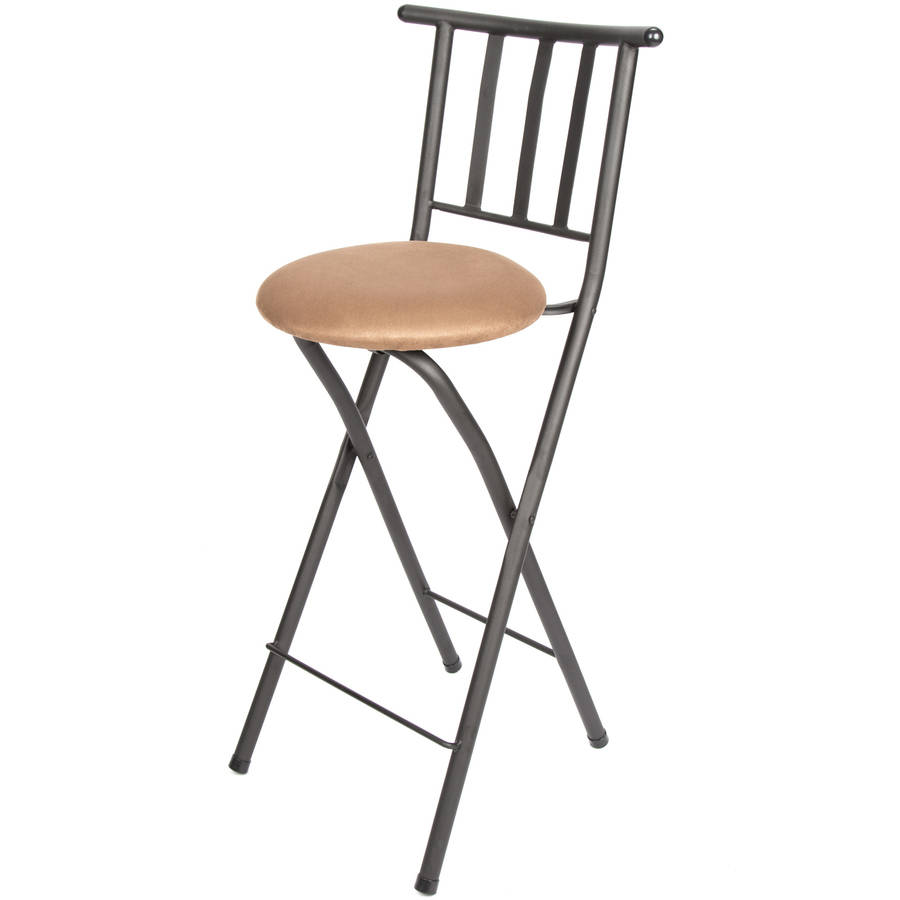 "Mainstays 30"" Slat Back Folding Stool, Hammered Bronze Finish"