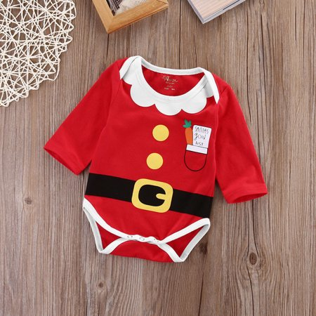 Infant Christmas Costumes (Hot New Xmas Infant Baby Boy Girl Christmas Clothes Party Rompers Outfit)