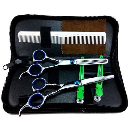 AngelCity Professional Barber Salon Hair Cutting Scissors Set Hair Thinning Shears Accessories Kits