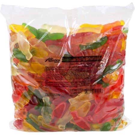 Image of Albanese Confectionery Assorted Sugar Free Gummi Fish, 4.5 lbs
